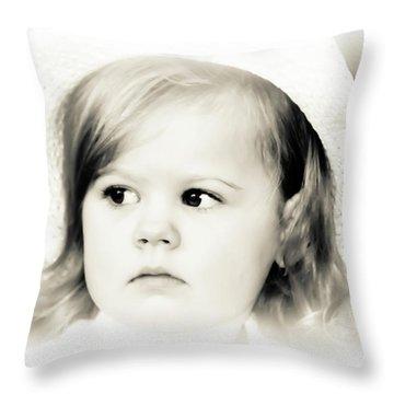 Easter Bonnet Throw Pillow by Trish Tritz