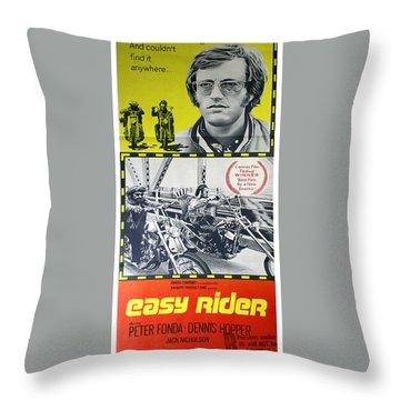 Easy Rider Movie Lobby Poster  1969 Throw Pillow by Daniel Hagerman