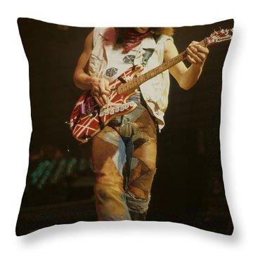 Eddie Van Halen Throw Pillow by Rich Fuscia