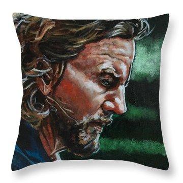 Eddie Vedder Throw Pillow by Joel Tesch