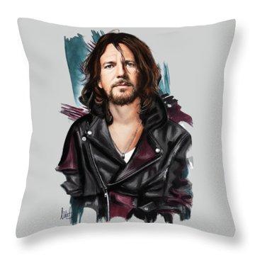 Eddie Vedder Throw Pillow by Melanie D