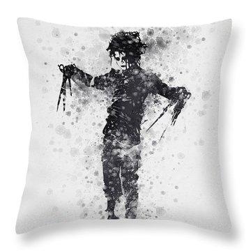Edward Scissorhands 01 Throw Pillow by Aged Pixel