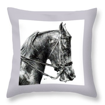 Effort Throw Pillow by Barbara Keith
