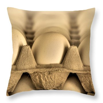 Eggs Throw Pillow by Evelina Kremsdorf