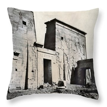 Egypt: Temple Of Isis Throw Pillow by Granger