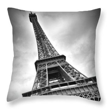 Eiffel Tower Dynamic Throw Pillow by Melanie Viola