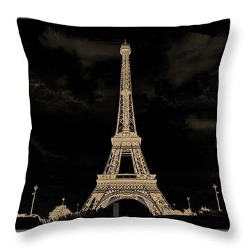 Eiffel Tower Paris 22 Throw Pillow by Jean Francois Gil