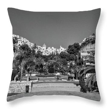 El Capistrano, Nerja Throw Pillow by John Edwards