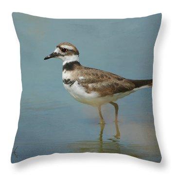 Elegant Wader Throw Pillow by Fraida Gutovich