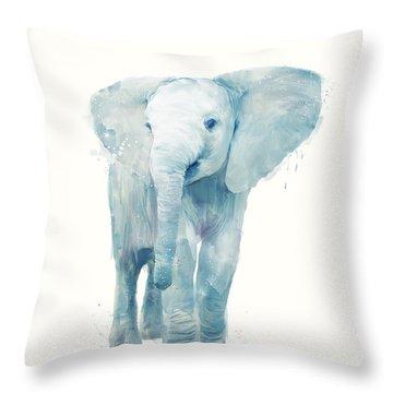 Elephant Throw Pillow by Amy Hamilton