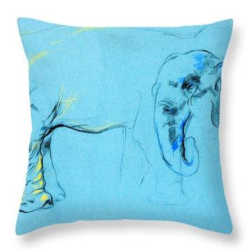 Elephant Painting By Ivailo Nikolov Throw Pillow by Boyan Dimitrov