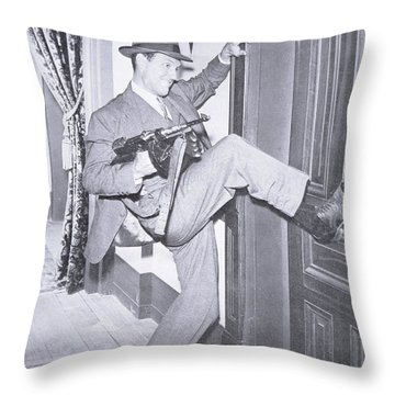 Eliot Ness Throw Pillow by Unknown
