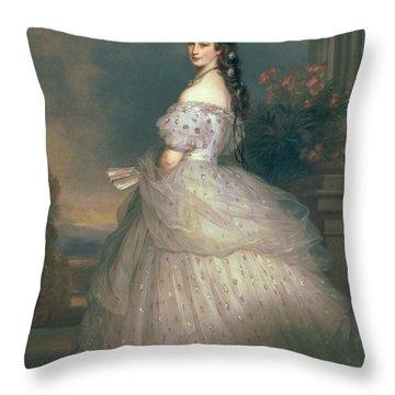 Elizabeth Of Bavaria Throw Pillow by Franz Xavier Winterhalter