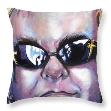 Elton John Throw Pillow by Misty Smith