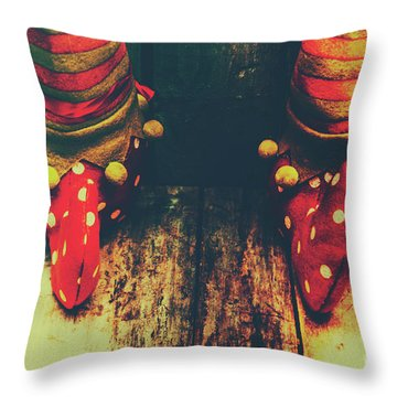 Elves And Feet Throw Pillow by Jorgo Photography - Wall Art Gallery