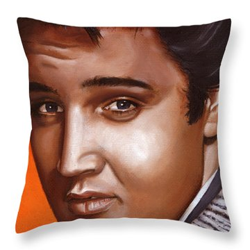 Elvis 24 1957 Throw Pillow by Rob De Vries