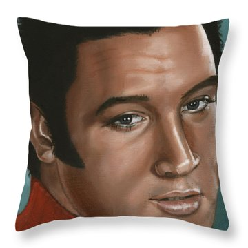 Elvis 24 1968 Throw Pillow by Rob De Vries