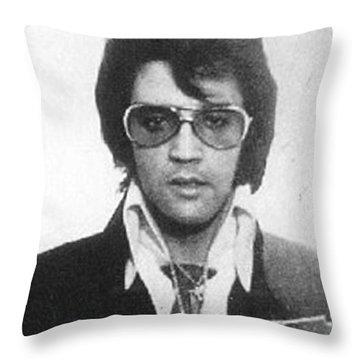 Elvis Presley Mug Shot Vertical Throw Pillow by Tony Rubino