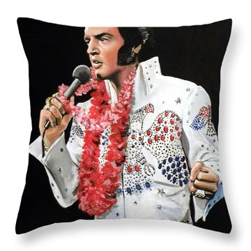 Elvis Throw Pillow by Tom Carlton