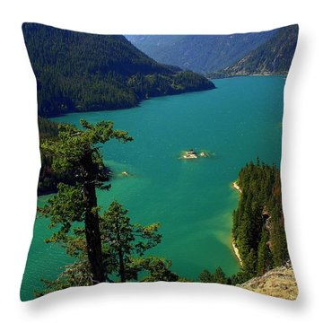 Emerald Lake Throw Pillow by Marty Koch