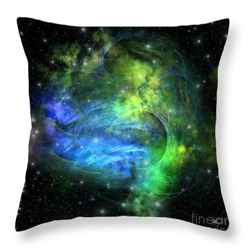 Emission Nebula Throw Pillow by Corey Ford