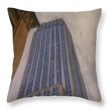 Empire State Building 2 Throw Pillow by Anita Burgermeister