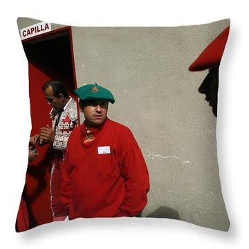 En Capilla Throw Pillow by Rafa Rivas