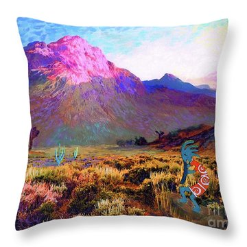 Enchanted Kokopelli Dawn Throw Pillow by Jane Small