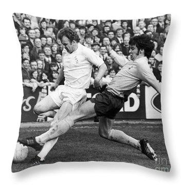 England: Soccer Match, 1972 Throw Pillow by Granger