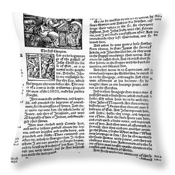 English Bible, 1535 Throw Pillow by Granger
