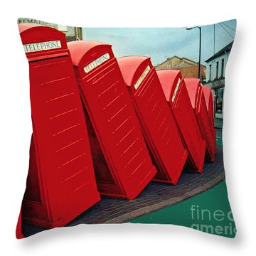English Domino Effect Throw Pillow by Sarah Loft