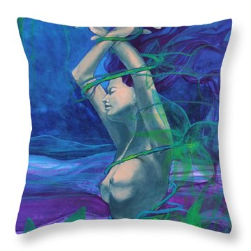 Entangled In Your Love... Throw Pillow by Dorina  Costras