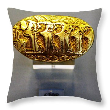 Enthroned Goddess Throw Pillow by Andonis Katanos