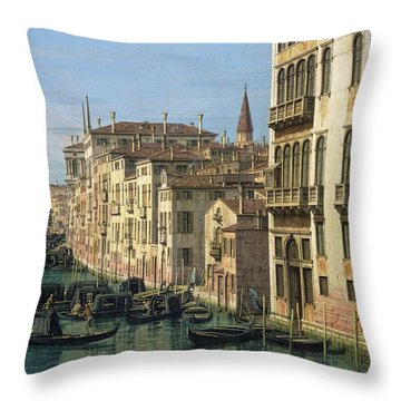 Entrance To The Grand Canal Looking West Throw Pillow by Canaletto