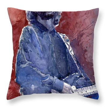 Eric Clapton 04 Throw Pillow by Yuriy  Shevchuk
