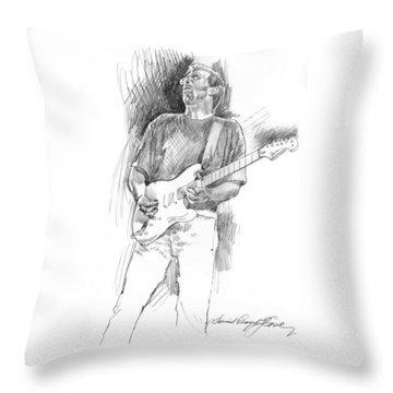 Eric Clapton Strat Throw Pillow by David Lloyd Glover
