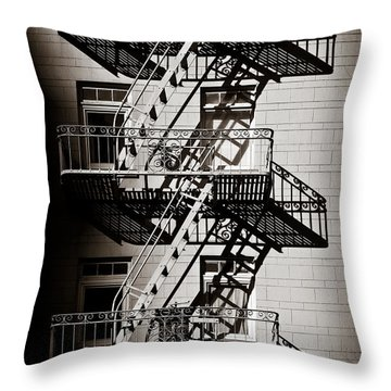 Escape Throw Pillow by Dave Bowman
