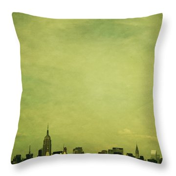 Escaping Urbania Throw Pillow by Andrew Paranavitana