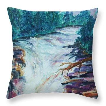 Esopus Creek Throw Pillow by Ellen Levinson