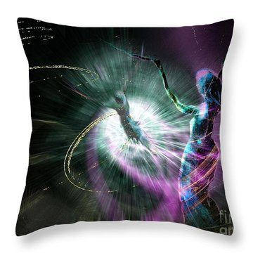 Eternel Feminin 02 Throw Pillow by Miki De Goodaboom