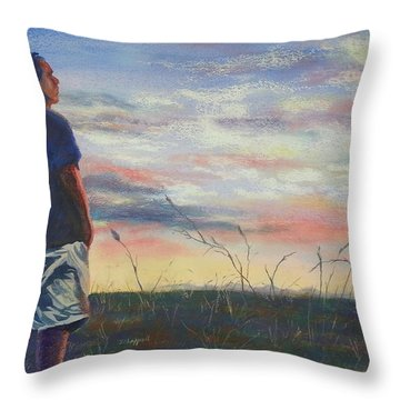 Evening Reflection Throw Pillow by Becky Chappell