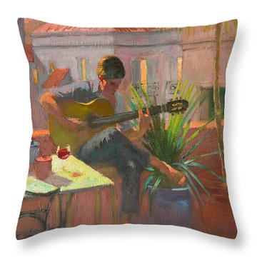 Evening Rooftop Throw Pillow by William Ireland