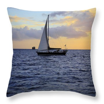 Evening Sail Throw Pillow by Cheryl Young