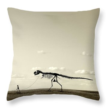 Evolution Throw Pillow by Todd Klassy