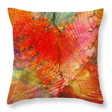 Exhilaration Throw Pillow by Barbara Berney