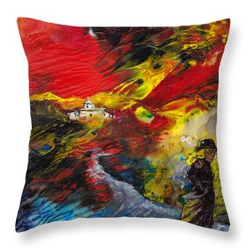 Expelled From The Land Throw Pillow by Miki De Goodaboom