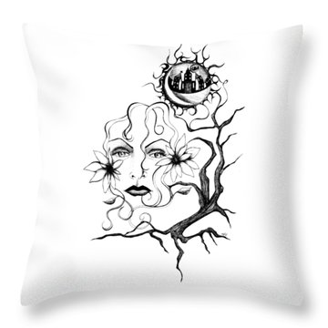 Eye Of The Beholder Throw Pillow by Shawna Rowe