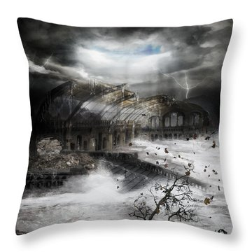 Eye Of The Storm Throw Pillow by Mary Hood