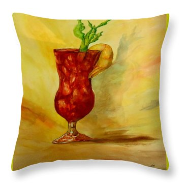Eye Opener Throw Pillow by Jacquie King