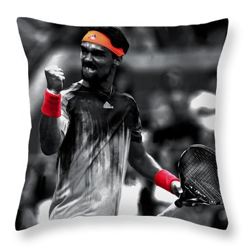 Fabio Fognini Throw Pillow by Brian Reaves